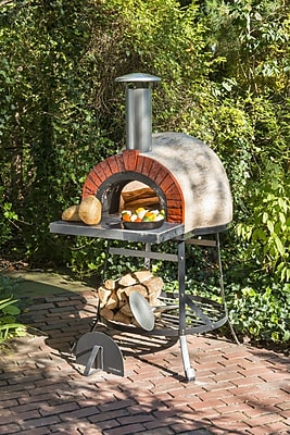 Rustic Cedar Rustic Wood Fired Oven - Faux Brick Front
