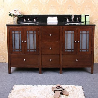 Legion Furniture 60'' Double Bathrom Vanity Base