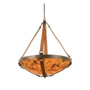Kalco Rodeo Drive 6-Light Bowl Inverted Pendant in Antique Copper; Antique Copper