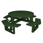POLYWOOD  Park Picnic Table; Hunter Green