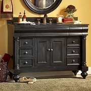 Kaco Guild Hall 48'' Distressed Bathroom Vanity Base; Distressed Pecan