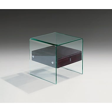 Creative Images International Bent Glass End Table; Black