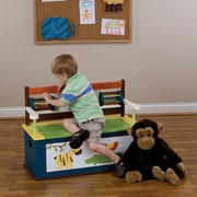 Levels of Discovery Jungle Jingle Kids Bench w/ Storage Compartment