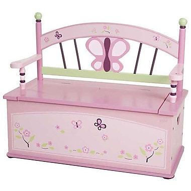 Levels of Discovery Sugar Plum Kids Bench w/ Storage Compartment