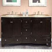 Silkroad Exclusive Naomi 60'' Double Bathroom Vanity Set