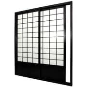 Oriental Furniture 83'' x 73.5'' Double Sided Sliding Door Room Divider