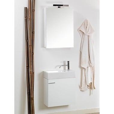 Iotti by Nameeks Lola 21'' Single Wall Mounted Bathroom Vanity Set w/ Mirror; Glossy White