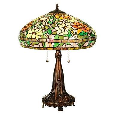 Meyda Tiffany Tiffany Nouveau Peony 23.5'' H Table Lamp with Bowl Shade