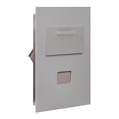 Salsbury Industries 1 Unit High 4B Horizontal Mailbox Parcel Locker; Aluminum