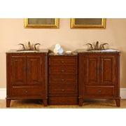 Silkroad Exclusive Allegheny 76'' Double Bathroom Vanity Set