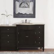 Silkroad Exclusive Hamilton 58'' Single Bathroom Vanity Set; Sink on the Left