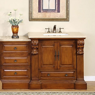 Silkroad Exclusive Montgomery 58'' Single Bathroom Vanity Set