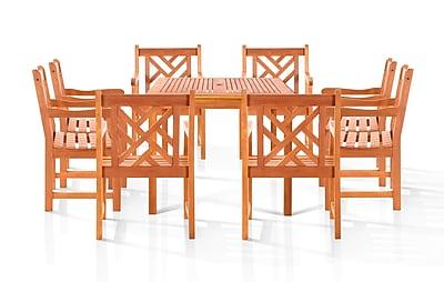 Vifah Melborne 9 Piece Dining Set