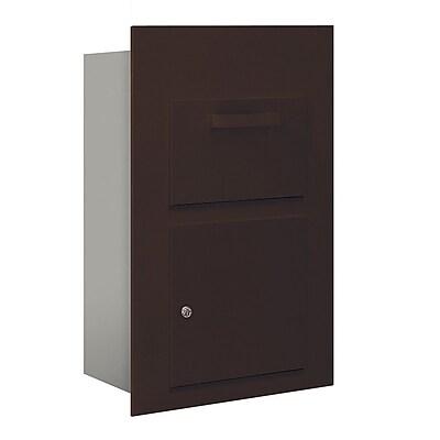 Salsbury Industries 2 Unit High 4B Horizontal Mailbox Parcel Locker; Bronze
