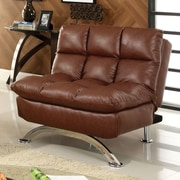 Hokku Designs Aristo Convertible Chair; Reddish Brown