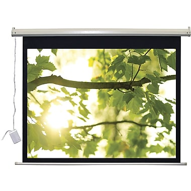 Vutec Lectro IR QM ''A Series'' Matte Black Electric Projection Screen; 45'' H x 80'' W