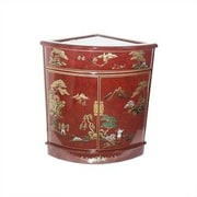 Oriental Furniture Asian Imperial Heavens Corner Accent Cabinet