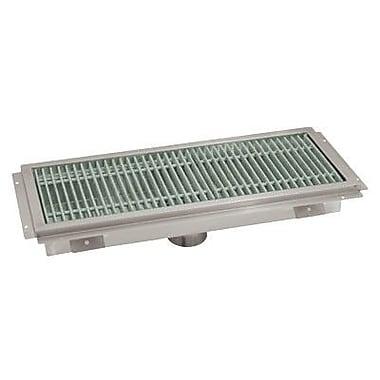 Advance Tabco Floor Trough Grid Shower Drain; 7'' H x 110'' W x 20'' D
