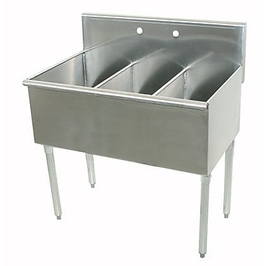 Advance Tabco 600 Series Triple 3 Compartment Floor Service Sink; 41'' H x 21'' W x 48'' D