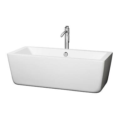 Wyndham Collection Laura 58.75'' x 27.38'' Soaking Bathtub; Chrome
