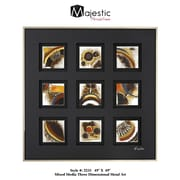 Majestic Mirror Clean Simple Contemporary Mixed Media Raised Framed Painting Print