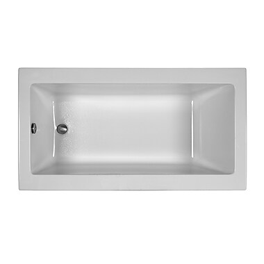Reliance Whirlpools Reliance Contemporary 60'' x 32'' Drop In Soaking Bathtub; White