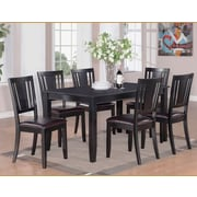 Wooden Importers Dudley 7 Piece Dining Set; Black