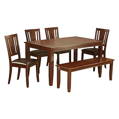 Wooden Importers Dudley 6 Piece Dining Set; Mahogany
