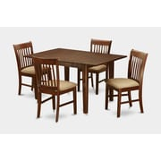 Wooden Importers Picasso 5 Piece Dining Set; Microfiber