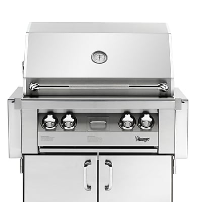 Vintage Appliances Vintage 3-Burner Built-In Convertible Gas Grill w/ Smoker WYF078277199756