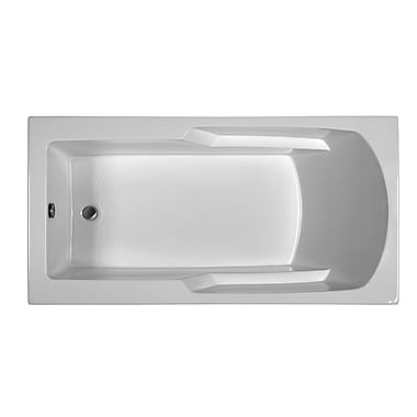 Reliance Whirlpools Rectangle 65.75'' x 33.75'' Soaking Bathtub; Biscuit