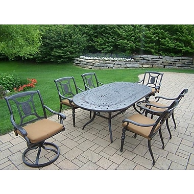 Oakland Living Victoria 7 Piece Dining Set w/ Cushions