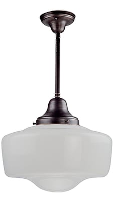 DVI 1-Light Schoolhouse Pendant; Oil Rubbed Bronze