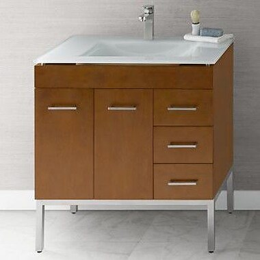 Ronbow Venus 32'' Single Bathroom Vanity Base; Cinnamon