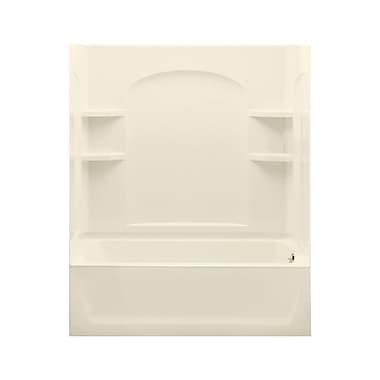 Sterling by Kohler Ensemble 74'' Bath/Shower Kit w/ Right Hand Drain; High Gloss Biscuit