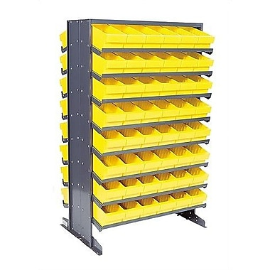 Quantum Double Sided Pick Rack Storage Systems w/ Various Euro Bins; Yellow