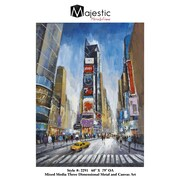 Majestic Mirror New York Time Square Urban Cityscape Painting Print on Canvas