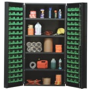 Quantum 72'' H  x 36'' W x 24'' D Welded Storage Cabinet; Green