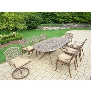 Oakland Living Mississippi 9 Piece Dining Set w/ Cushions