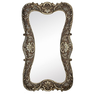 Majestic Mirror Large Curvy Silver w/ Dark Wash Traditional Hanging Wall Mirror