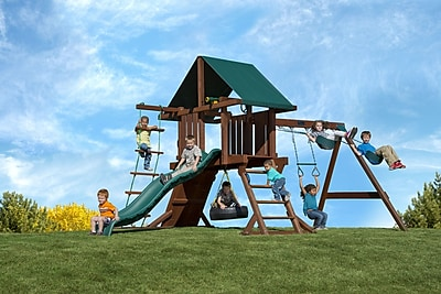 Kids Creations Redwood Two Ring Adventure Swing