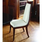 Global Views Elegant Deco Leather Genuine Leather Upholstered Dining Chair