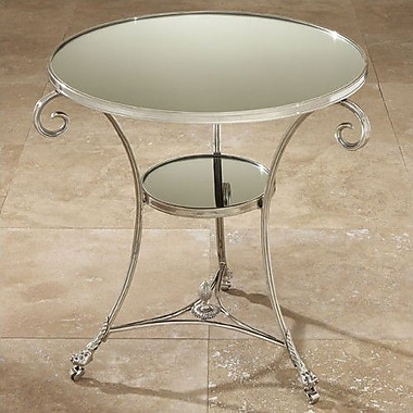 Global Views Draw Attention Tray Table; Nickel & Mirror