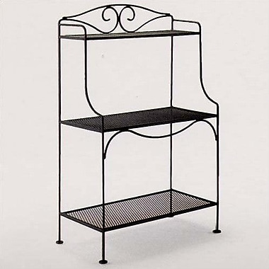 Woodard Standard Baker's Rack; Hammered White