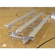 Highland Products 3 Row Tip and Roll Aluminum Bleachers Bench