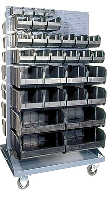 Quantum 66'' H x 36'' W Conductive Mobile Double Sided Louvered Rack
