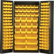 Quantum 72'' H x 36'' W x 24'' D Welded Storage Cabinet; Ivory