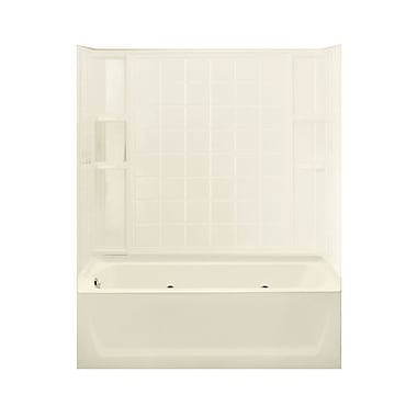 Sterling by Kohler Ensemble 99'' Whirlpool Tub and Walls w/ Left Hand Drain; Biscuit