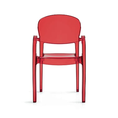 Creative Furniture Joke Arm Chair; Transparent Red