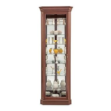 Philip Reinisch Co. Lighthouse Octave III Lighted Corner Curio Cabinet